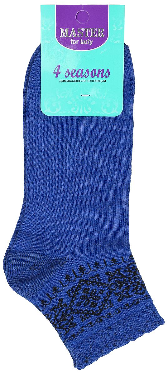 Носки женские 4 Seasons. 5506255062Удобные носки Master Socks, изготовленные из высококачественного комбинированного материала, очень мягкие и приятные на ощупь, позволяют коже дышать. Эластичная резинка плотно облегает ногу, не сдавливая ее, обеспечивая комфорт и удобство. Модель с укороченным паголенком оформлена оригинальным узором. Удобные и комфортные носки великолепно подойдут к любой вашей обуви.