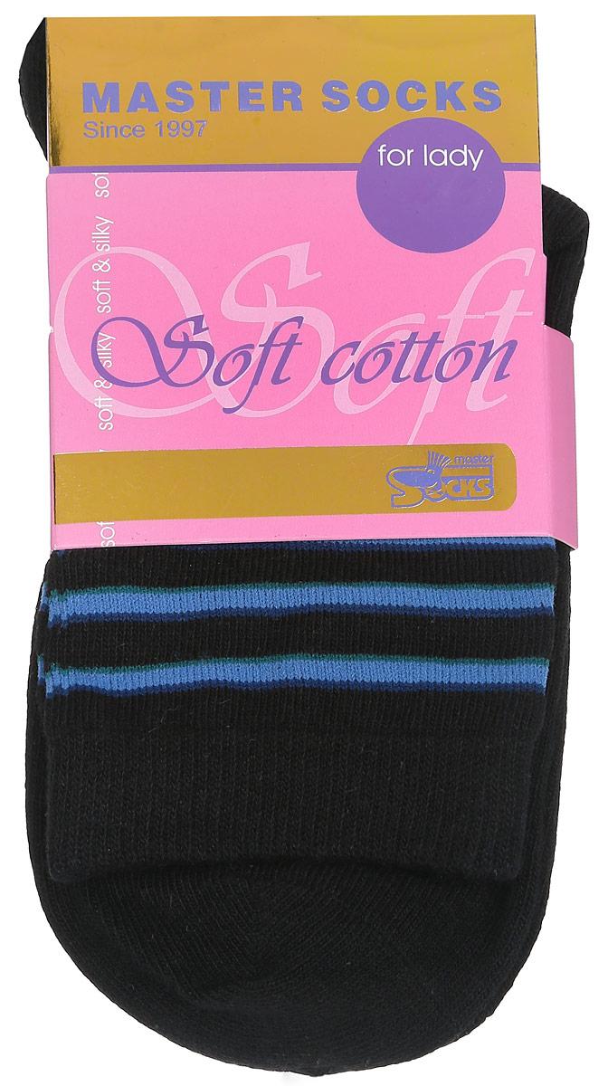 Носки женские Soft Cotton. 8501085010Удобные носки Master Socks, изготовленные из высококачественного комбинированного материала, очень мягкие и приятные на ощупь, позволяют коже дышать. Эластичная резинка плотно облегает ногу, не сдавливая ее, обеспечивая комфорт и удобство. Модель с стандартным паголенком оформлена оригинальным принтом. Удобные и комфортные носки великолепно подойдут к любой вашей обуви.