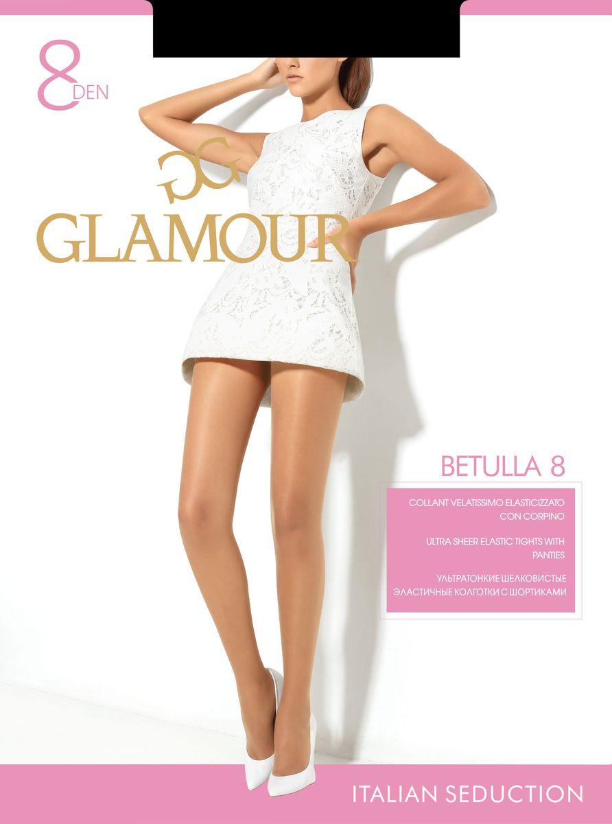Колготки женские Betulla 8. 2582825828Стильные классические колготки Glamour Betulla 8, изготовленные из эластичного полиамида, идеально дополнят ваш образ и превосходно подойдут к платьям и юбкам. Ультратонкие шелковистые колготки с шортиками легко тянутся, что делает их комфортными в носке. Гладкие и мягкие на ощупь, они имеют комфортный пояс и укрепленный прозрачный мысок. Идеальное облегание и комфорт гарантированы при каждом движении. Плотность: 8 den.