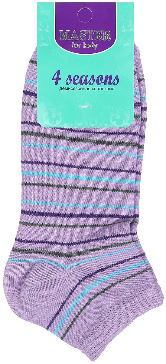 Носки женские. 5510355103Удобные носки Master Socks, изготовленные из высококачественного комбинированного материала, очень мягкие и приятные на ощупь, позволяют коже дышать. Эластичная резинка плотно облегает ногу, не сдавливая ее, обеспечивая комфорт и удобство. Носки с укороченным паголенком и полупрозрачными полосками на верхней части носка. Модель оформлена принтом в полоску. Удобные и комфортные носки великолепно подойдут к любой вашей обуви.