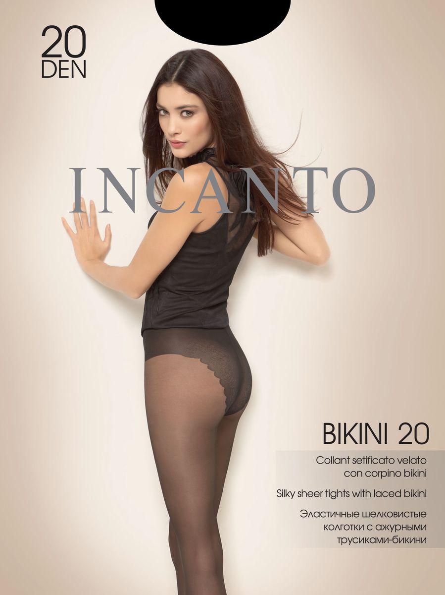 Колготки женские Bikini 20. 2164921649Стильные классические колготки Incanto Bikini 20, изготовленные из эластичного полиамида, идеально дополнят ваш образ и подчеркнут элегантность и стиль. Ультратонкие шелковистые колготки с ажурными трусиками-бикини легко тянутся, что делает их комфортными в носке. Гладкие и мягкие на ощупь, они имеют комфортный пояс, гигиеническую ластовицу и укрепленный прозрачный мысок. Идеальное облегание и комфорт гарантированы при каждом движении. Плотность: 20 den.