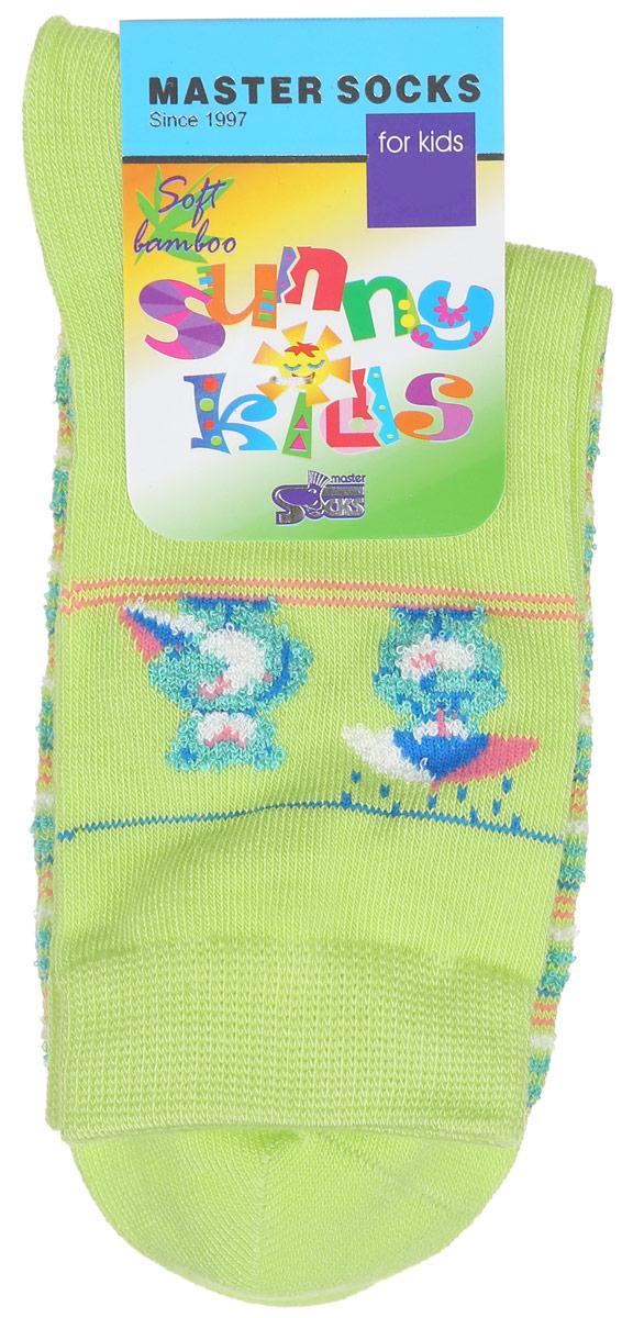 Носки детские Sunny Kids. 82605_мишки82605Комфортные и прочные носки Master Socks Sunny Kids выполнены из бамбука и эластичного хлопка с добавлением полиамида. Материал изделия очень мягкий и приятный на ощупь, хорошо тянется, не деформируясь. Эластичная резинка мягко облегает ножку ребенка, обеспечивая удобство и комфорт. Модель оформлена принтом в полоску, украшена объемным изображением медвежат, связанным из пряжи с петельками. Такие носочки станут отличным дополнением к детскому гардеробу! Уважаемые клиенты! Размер, доступный для заказа, является длиной стопы.