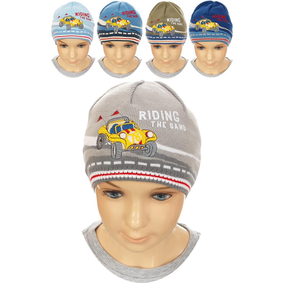 Шапка для мальчика. M3600-22M3600-22Стильная теплая шапка для мальчика ПриКиндер идеально подойдет для прогулок и активных игр в холодное время года. Шапка выполнена из высококачественного акрила с добавлением хлопка, она невероятно мягкая и приятная на ощупь, великолепно тянется и удобно сидит. Такая шапочка отлично дополнит любой наряд. Модель украшена оригинальной вышивкой с изображением гоночного автомобиля. Удобная шапка станет модным и стильным дополнением гардероба вашего ребенка, надежно защитит его от холода и ветра и поднимет ему настроение даже в пасмурные дни! Уважаемые клиенты! Размер, доступный для заказа, является обхватом головы.
