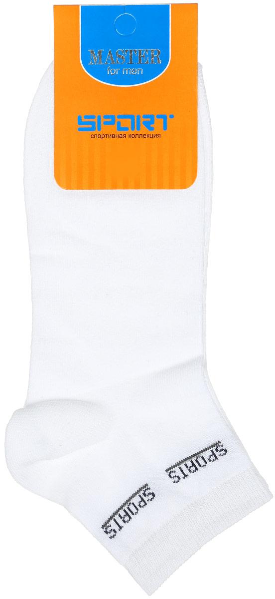 Носки58907Удобные носки Master Socks, изготовленные из высококачественного комбинированного материала, очень мягкие и приятные на ощупь, позволяют коже дышать. Эластичная резинка плотно облегает ногу, не сдавливая ее, обеспечивая комфорт и удобство. Носки с укороченным паголенком и надписью Sports на верхней части носка. Удобные и комфортные носки великолепно подойдут к любой вашей обуви.