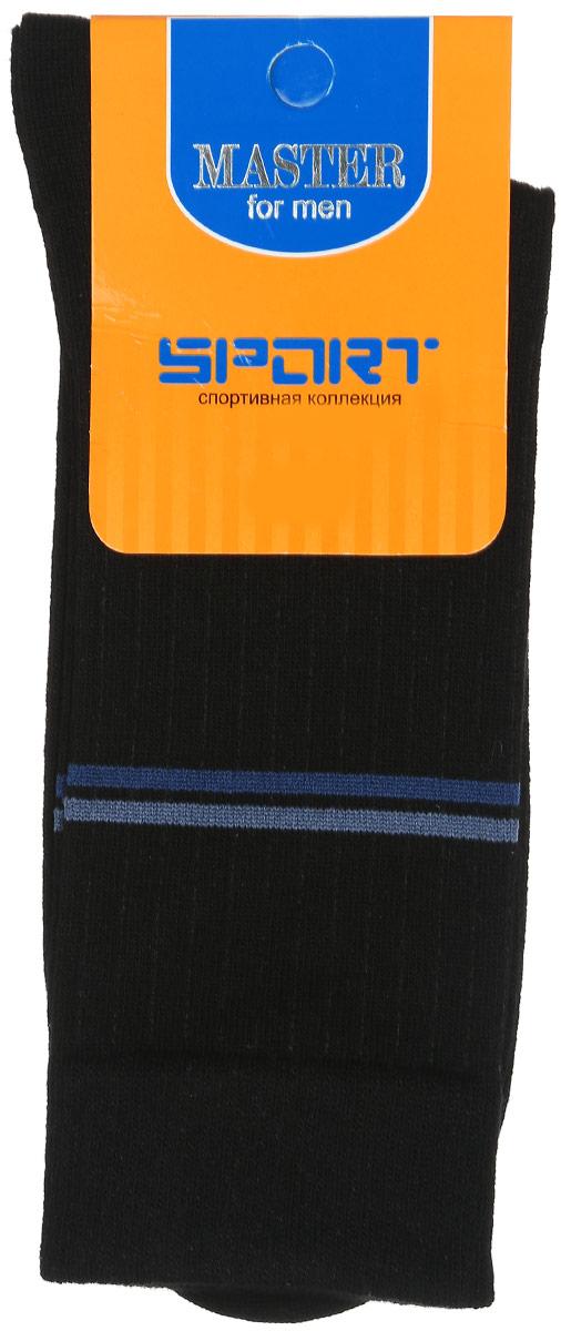 Носки58902Удобные носки Master Socks, изготовленные из высококачественного комбинированного материала, очень мягкие и приятные на ощупь, позволяют коже дышать. Эластичная резинка плотно облегает ногу, не сдавливая ее, обеспечивая комфорт и удобство. Носки с паголенком классической длины оформлены двумя полосками контрастного цвета в верхней части носка. Практичные и комфортные носки великолепно подойдут к любой вашей обуви.