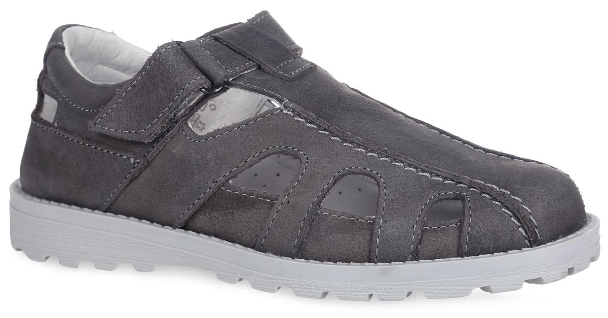 Туфли для мальчика. 632150-22632150-22Стильные туфли от Котофей очаруют вашего модника с первого взгляда! Модель выполнена из качественной натуральной кожи и оформлена перфорацией для лучшей воздухопроницаемости. Ремешок с застежкой-липучкой надежно зафиксирует ногу. Внутренняя поверхность из натуральной кожи не натирает. Стелька из материала ЭВА с поверхностью из натуральной кожи с супинатором обеспечивает комфорт при движении. Внутренняя форма обуви имеет анатомическую форму следа уже в подошве и в точности повторяет изгибы свода стопы. Она поддерживает продольный и поперечный своды, обеспечивает оптимальную стабильность и фиксацию пяточной части. Рифленая поверхность подошвы обеспечивает отличное сцепление с любой поверхностью. Стильные туфли - незаменимая вещь в гардеробе каждого мальчика!