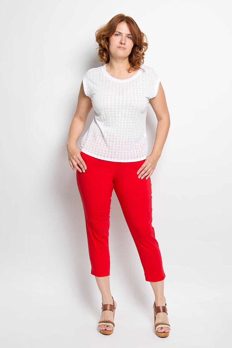 Брюки женские. 15-05-0915-05-09Женские брюки Milana Style, выполненные из хлопка с добавлением эластана, прекрасно дополнят ваш образ. Материал легкий, мягкий и приятный на ощупь, не сковывает движения, позволяет коже дышать. Укороченные брюки-slim стандартной посадки на поясе застегиваются на пуговицу и имеют ширинку на застежке-молнии. Спереди расположены два втачных кармана. Такая модель брюк будет дарить вам комфорт в течение всего дня и станет отличным дополнением к вашему гардеробу.