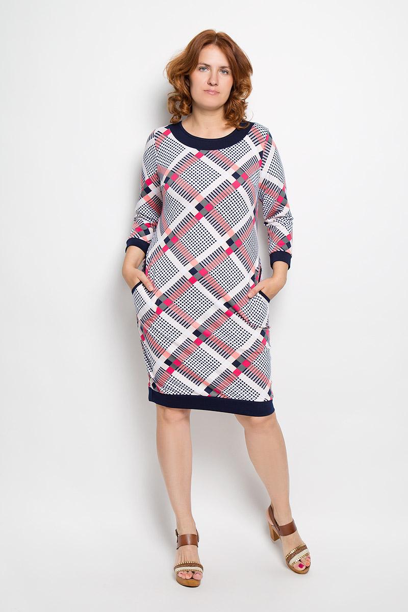 Платье1581мПлатье Milana Style идеально подойдет для вас и станет стильным дополнением к вашему гардеробу. Выполненное из вискозы с добавлением ПАНа и эластана, оно очень приятное на ощупь, не сковывает движений и хорошо вентилируется. Модель с круглым вырезом горловины и длинными рукавами оформлена оригинальным принтом в клетку. Сзади модель дополна декоративной планкой с четырьмя пуговицами. Края рукавов обработаны узкими манжетами. По бокам изделие дополнено двумя карманами. Такое платье поможет создать яркий и привлекательный образ, в нем вам будет удобно и комфортно.