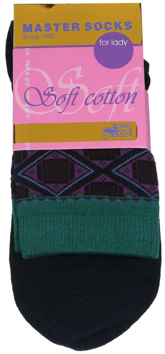 Носки женские Soft Cotton. 85010_ромб85010Удобные носки Master Socks, изготовленные из высококачественного комбинированного материала, очень мягкие и приятные на ощупь, позволяют коже дышать. Эластичная резинка плотно облегает ногу, не сдавливая ее, обеспечивая комфорт и удобство. Модель с стандартным паголенком оформлена оригинальным принтом. Удобные и комфортные носки великолепно подойдут к любой вашей обуви.