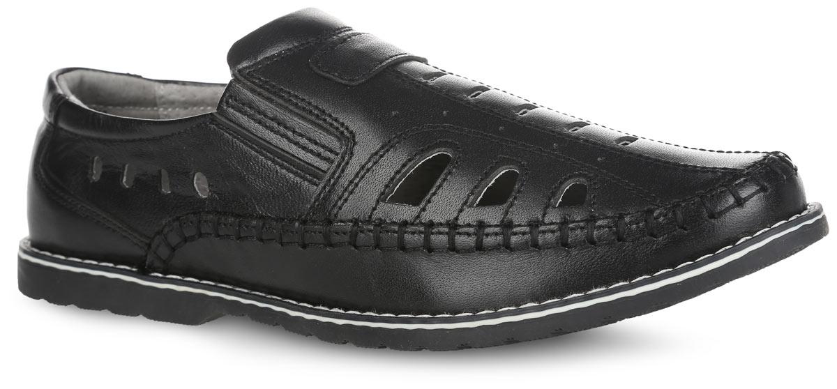 Туфли для мальчика. 732108732108-21Стильные летние туфли для мальчика от Котофей выполнены из натуральной высококачественной кожи и оформлены внешним декоративным швом, вдоль ранта - крупной контрастной прострочкой. Сквозные отверстия обеспечивают естественную вентиляцию. Эластичные вставки по бокам обеспечивают наилучшую посадку модели на ноге. Внутренняя поверхность из натуральной кожи не натирает. Стелька из материала ЭВА с поверхностью из натуральной кожи дополнена супинатором, который обеспечивает правильное положение стопы ребенка при ходьбе и предотвращает плоскостопие. Рельефная поверхность подошвы обеспечивает отличное сцепление с любой поверхностью. Такие туфли займут достойное место среди коллекции обуви вашего ребенка.