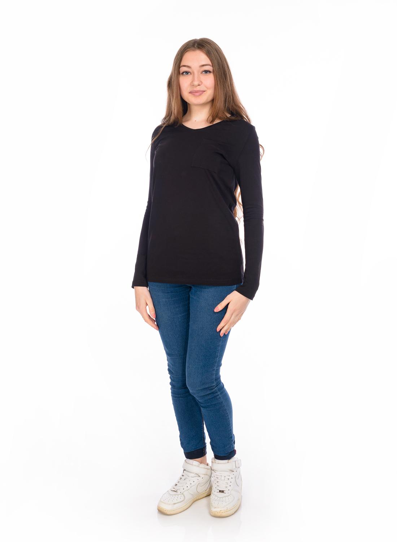 ЛонгсливRAV02-020Женский лонгслив, выполненный из эластичного хлопка, станет отличным дополнением вашего гардероба. Модель с V-образным вырезом горловины и длинными рукавами на груди дополнена накладным карманом.