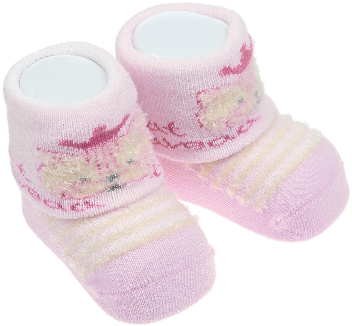 Носки82014Детские носки Master Socks изготовлены из высококачественного материала. Широкая резинка мягко облегает ножку, не сдавливая ее, благодаря чему ребенку будет комфортно и удобно. Усиленные пятка и мысок обеспечивают надежность и долговечность. Модель оформлена фактурными полосками, украшена объемным изображением котика. Такие носочки станут отличным дополнением к гардеробу ребенка! Уважаемые клиенты! Размер, доступный для заказа, является длиной стопы.