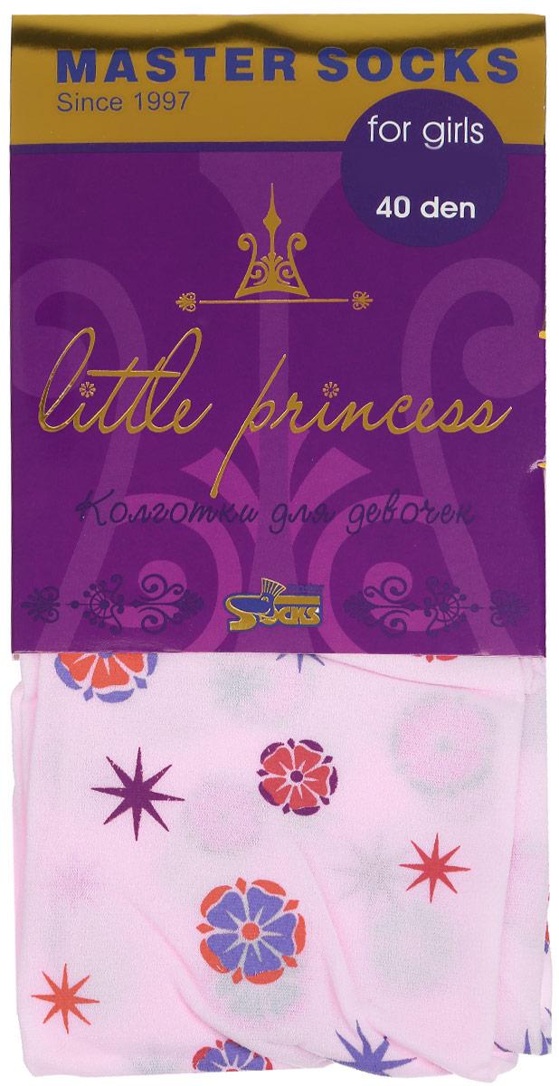 Колготки для девочки Little Princess 40. 8141081410Классические детские колготки Master Socks Little Princess 40 изготовлены специально для девочек. Колготки средней плотности с цветочным узором имеют широкую резинку и комфортные мягкие швы. Элегантные и комфортные, эти колготки равномерно облегают ножки, не сдавливая и не доставляя дискомфорта. Эластичные швы и мягкая резинка на поясе не позволят колготам сползать и при этом не будут стеснять движений. Входящие в состав ткани полиамид и эластан предотвращают растяжение и деформацию после стирки. Классические колготки - это идеальное решение на каждый день для прогулки, школы, яслей или садика. Такие колготки станут великолепным дополнением к гардеробу вашей красавицы.