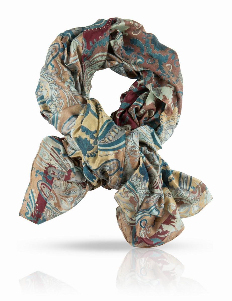 Палантин. SN-PAYSLEY/VERTSN-PAYSLEY/VERTПалантин, 100% натуральный шелк, шелковая ткань ручного плетения, вес изделия 75г