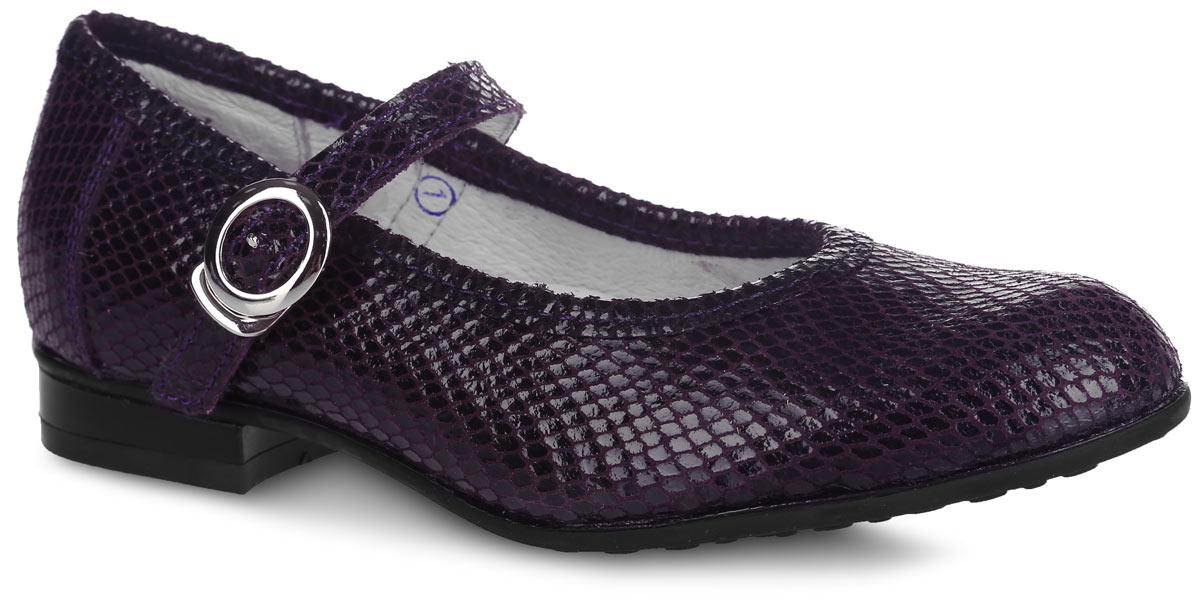 Туфли для девочки. 632155-21632155-21Прелестные туфли от Котофей очаруют вашу девочку с первого взгляда! Модель выполнена из качественной натуральной кожи оригинального тиснения. Ремешок с застежкой-крючком надежно зафиксирует ножку ребенка. Внутренняя поверхность из натуральной кожи не натирает. Стелька из материала ЭВА с поверхностью из натуральной кожи дополнена супинатором с перфорацией, который обеспечивает правильное положение стопы ребенка при ходьбе и предотвращает плоскостопие. Туфли снабжены невысоким каблучком. Рифленая поверхность подошвы и каблука обеспечивает отличное сцепление с любой поверхностью. Стильные туфли - незаменимая вещь в гардеробе каждой девочки!