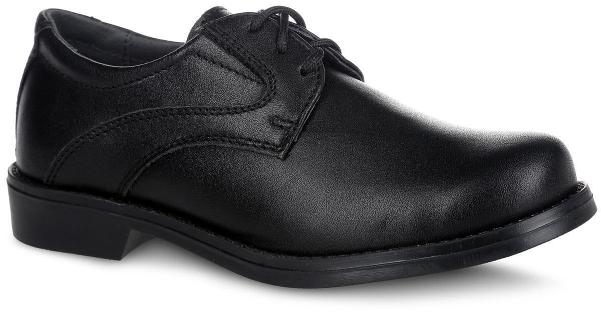 Туфли для мальчика. 632176-21632176-21Стильные туфли для мальчика от Котофей выполнены из натуральной высококачественной кожи. Наличие эластичных резинок на союзке позволяет легко обувать и снимать обувь, используя шнурки только для регулировки по полноте. Стелька из мягкой натуральной кожи с супинатором обеспечивает максимальный комфорт при движении. Мягкий манжет предотвратит натирание. Небольшой каблук и подошва с рифлением обеспечивают отличное сцепление с поверхностью. Такие туфли займут достойное место среди коллекции обуви вашего ребенка.