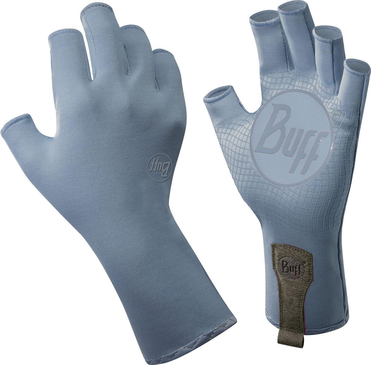 Перчатки рыболовные Watter GlovesWatter Gloves Glacier BlueТехнологичные рыболовные перчатки с фактором защиты от солнца UPF 50+, прекрасно дышат. Выполнены из прочной стрейтчевой ткани. Повторяют все изгибы кисти. Ладонь перчатки покрыта силиконовым принтом. Пальцы перчатки отрезаны на 3/4. Удлиненная манжета. Состав: 95% нейлон, 5% лайкра; принт на ладони: 100% силикон, трикотаж