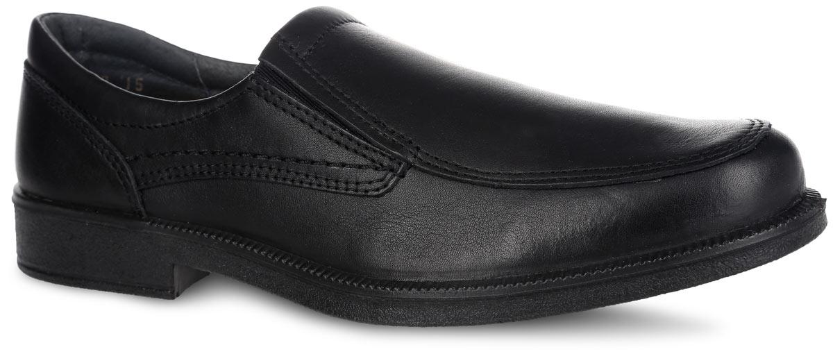 Туфли для мальчика. 732103-21732103-21Стильные туфли для мальчика от Котофей выполнены из натуральной высококачественной кожи. Отсутствие застежек позволяет легко обувать и снимать обувь. Расположенные по бокам эластичные вставки обеспечивают лучшее прилегание обуви к стопе. Кожаные подкладка и стелька, которая дублирована мягким вспененным материалом, гарантируют комфорт при ходьбе. Подошва оснащена рифлением для лучшего сцепления с поверхностями. Такие туфли займут достойное место среди коллекции обуви вашего ребенка.