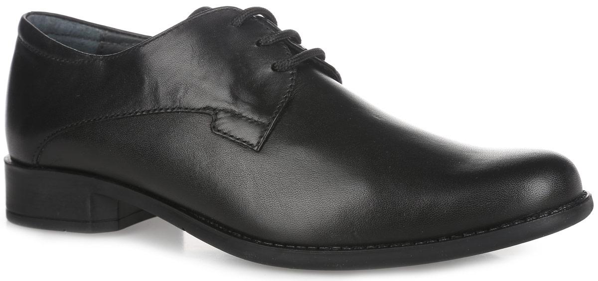 Туфли для мальчика. 3437090134370901Стильные туфли от Elegami придутся по душе вашему моднику! Модель выполнена из высококачественной натуральной кожи. Подкладка и стелька, изготовленные из натуральной кожи, предотвратят натирание и гарантируют уют. Стелька дополнена супинатором, который обеспечивает правильное положение ноги ребенка при ходьбе, предотвращает плоскостопие. Классическая шнуровка надежно зафиксирует изделие на ноге. Подошва оснащена рифлением для лучшего сцепления с различными поверхностями. Удобные классические туфли - незаменимая вещь в гардеробе каждого мальчика.