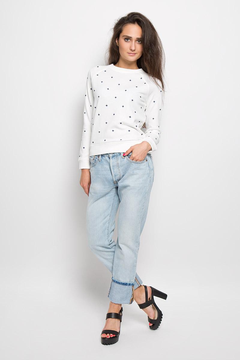 Джинсы женские 501. 12501023801250102380Стильные женские джинсы Levis® 501 станут отличным дополнением к вашему гардеробу. Изготовленные из натурального хлопка, они мягкие и приятные на ощупь, не сковывают движения и позволяют коже дышать. Джинсы застегиваются на металлическую пуговицу и имеют ширинку на пуговицах, а также шлевки для ремня. Модель имеет классический пятикарманный крой: спереди - два втачных кармана и один маленький накладной, а сзади - два накладных кармана. Изделие оформлено эффектом искусственного состаривания денима: прорези и потертости. Современный дизайн и расцветка делают эти джинсы модным предметом одежды. Это идеальный вариант для тех, кто хочет заявить о себе и своей индивидуальности и отразить в имидже собственное мировоззрение.