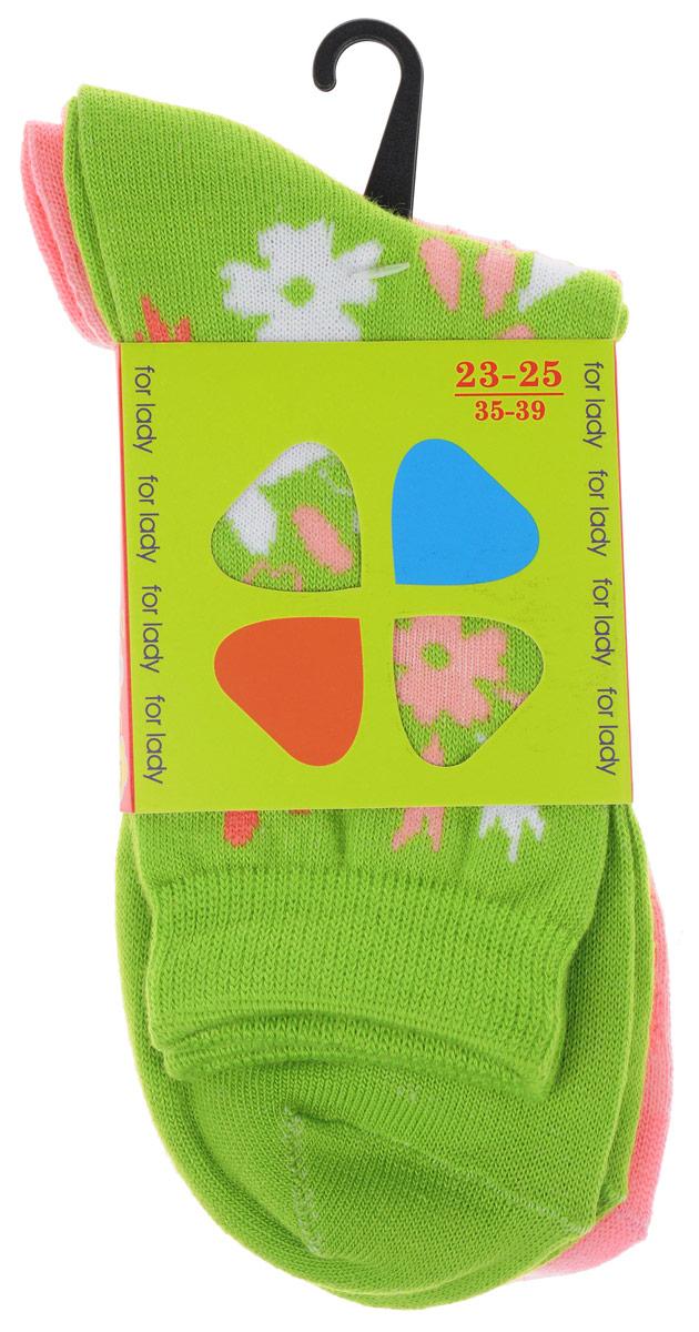 85420Комплект носков Master Socks изготовлен из высококачественного комбинированного материала, который позволяет коже дышать. Комплект включает в себя 2 пары очень мягких и приятных на ощупь носков, оформленных лаконичными цветочными узорами. Эластичная резинка плотно облегает ногу, не сдавливая ее, обеспечивая комфорт и удобство. Усиленные пятка и мысок обеспечивают надежность и долговечность изделий. Удобные и комфортные носки великолепно подойдут к любой вашей обуви.
