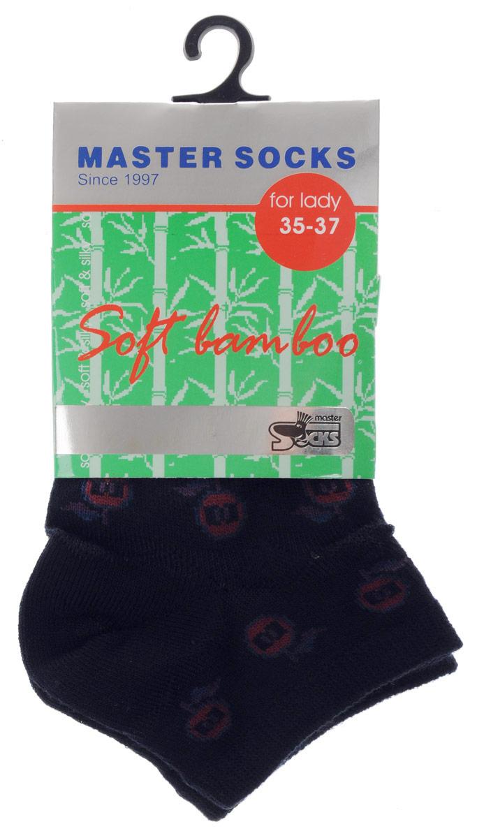 Носки85605Удобные укороченные носки Master Socks, изготовленные из высококачественного комбинированного материала, очень мягкие и приятные на ощупь, позволяют коже дышать. Эластичная резинка плотно облегает ногу, не сдавливая ее, обеспечивая комфорт и удобство. Носки дополнены полупрозрачным орнаментом с изображением яблока. Практичные и комфортные носки великолепно подойдут к любой вашей обуви.