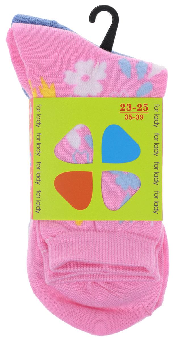 Комплект носков85420Комплект носков Master Socks изготовлен из высококачественного комбинированного материала, который позволяет коже дышать. Комплект включает в себя 2 пары очень мягких и приятных на ощупь носков, оформленных лаконичными цветочными узорами. Эластичная резинка плотно облегает ногу, не сдавливая ее, обеспечивая комфорт и удобство. Усиленные пятка и мысок обеспечивают надежность и долговечность изделий. Удобные и комфортные носки великолепно подойдут к любой вашей обуви.