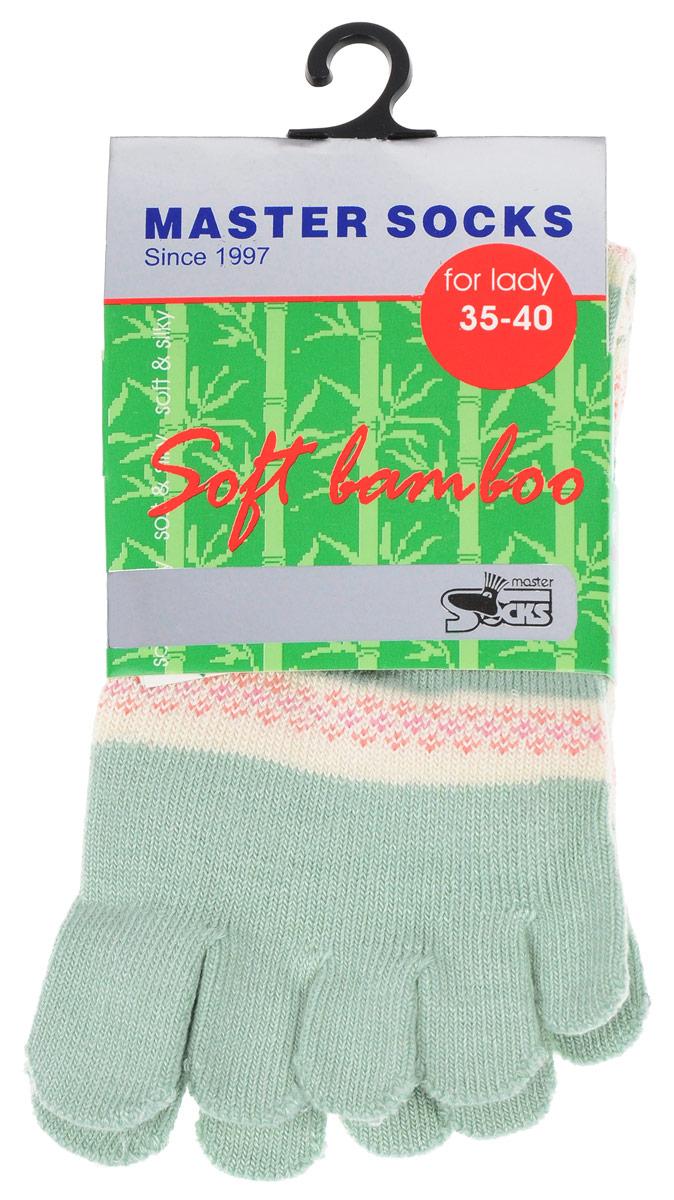 Носки женские Soft Bamboo. 8568085680Стильные носки с отделениями для пальцев Master Socks, изготовленные из высококачественного комбинированного материала, очень мягкие и приятные на ощупь, позволяют коже дышать. Эластичная широкая резинка плотно облегает ногу, не сдавливая ее, обеспечивая комфорт и удобство. Носки оформлены лаконичными узорами. Оригинальные и комфортные носки великолепно подойдут к любой вашей обуви.