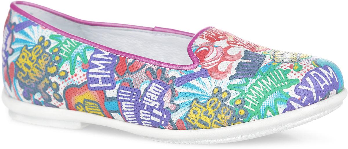 Туфли для девочки. 6-6127316026-612731602Прелестные туфли от Elegami очаруют вашу девочку с первого взгляда! Модель выполнена из натуральной кожи и оформлена ярким принтом. Внутренняя поверхность из натуральной кожи и стелька из EVA-материала с поверхностью из натуральной кожи гарантируют комфорт при движении. Стелька дополнена супинатором с перфорацией, который обеспечивает правильное положение ноги ребенка при ходьбе, предотвращает плоскостопие. Подошва с рифлением обеспечивает отличное сцепление с любыми поверхностями. Стильные туфли займут достойное место в гардеробе вашей девочки.