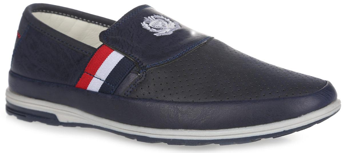 6120Стильные полуботинки от Adagio займут достойное место в гардеробе вашего мальчика! Модель выполнена из искусственной кожи и оформлена перфорацией, обеспечивающей хорошую воздухопроницаемость. Подъем оформлен вышивкой с изображением герба. Резинки, расположенные на подъеме, отвечают за оптимальную посадку обуви на ноге. Стелька из натуральной кожи дополнена супинатором с перфорацией, который гарантирует правильное положение ноги ребенка при ходьбе, предотвращает плоскостопие. Подошва с рифлением обеспечивает отличное сцепление с любой поверхностью. Удобные полуботинки придутся по душе вашему ребенку!