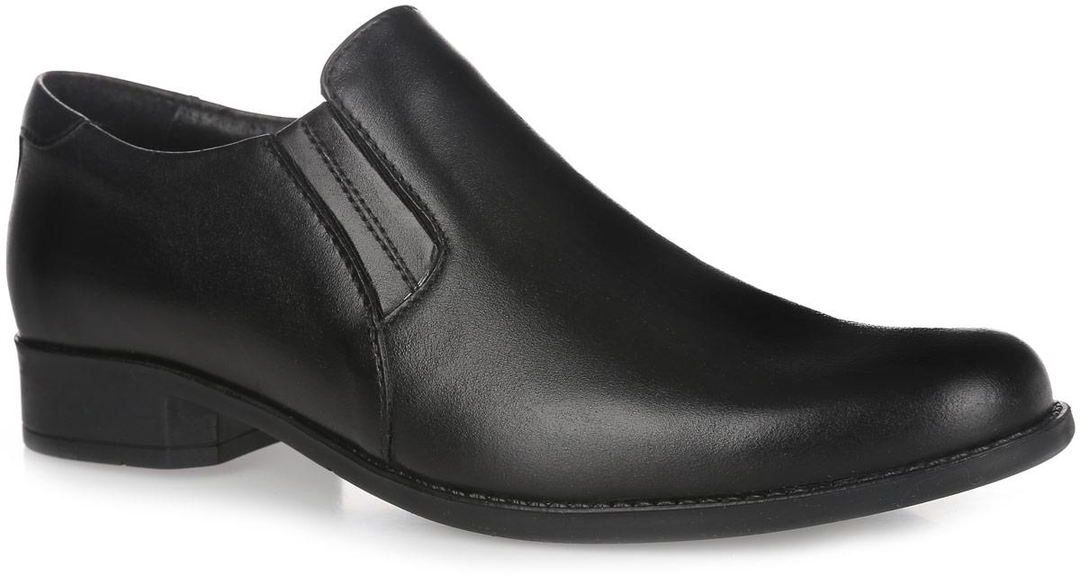Туфли для мальчика. 5-344609015-34460901Стильные туфли от Elegami придутся по душе вашему юному моднику! Модель выполнена из натуральной кожи и дополнена эластичными резинками на подъеме для лучшей фиксации изделия на ноге. Подкладка и стелька, изготовленные из натуральной кожи, предотвратят натирание и гарантируют уют. Стелька дополнена супинатором, который обеспечивает правильное положение ноги ребенка при ходьбе, предотвращает плоскостопие. Подошва оснащена рифлением для лучшего сцепления с различными поверхностями. Удобные классические туфли - незаменимая вещь в гардеробе каждого мальчика.