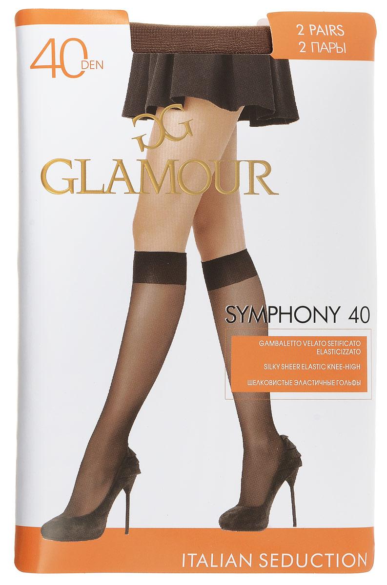 Гольфы женские Symphony 40, 2 парыSymphony 40Стильные гольфы Glamour Symphony 40, изготовленные из эластичного полиамида, идеально дополнят ваш образ в прохладную погоду. Шелковистые гольфы легко тянутся, что делает их комфортными в носке. Гладкие и мягкие на ощупь, они имеют комфортную мягкую резинку и укрепленный мысок. Идеальное облегание и комфорт гарантированы при каждом движении. Плотность: 40 den. В комплекте 2 пары.