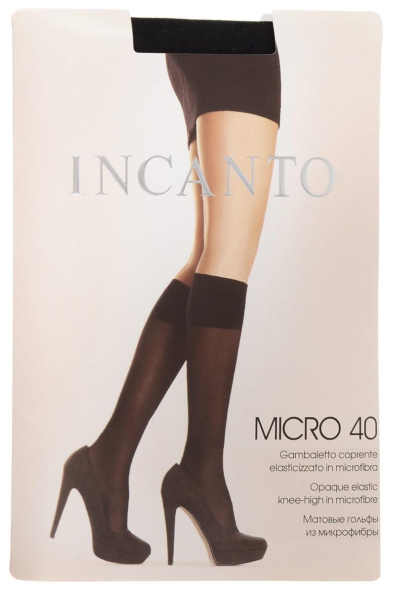 Гольфы женские Micro 40. 59345934Стильные гольфы Incanto Micro 40, изготовленные из эластичного полиамида, идеально дополнят ваш образ в прохладную погоду. Шелковистые матовые гольфы легко тянутся, что делает их комфортными в носке. Гладкие и мягкие на ощупь, они имеют удобную резинку top comfort. Идеальное облегание и комфорт гарантированы при каждом движении. Плотность: 40 den.