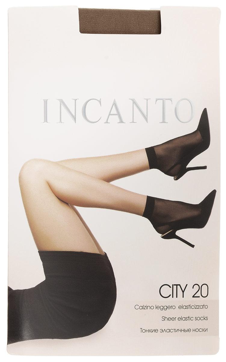 Носки женские City 20, 2 парыCity 20Удобные женские носки Incanto City 20, изготовленные из высококачественного эластичного полиамида, идеально подойдут для повседневной носки. Входящий в состав материала полиамид обеспечивает износостойкость, а эластан позволяет носочкам легко тянуться, что делает их комфортными в носке. Эластичная резинка плотно облегает ногу, не сдавливая ее, обеспечивая комфорт и удобство и не препятствуя кровообращению. Практичные и комфортные шелковистые носки c укрепленным мыском великолепно подойдут к любой открытой обуви. В комплект входят 2 пары носков. Плотность: 20 den.