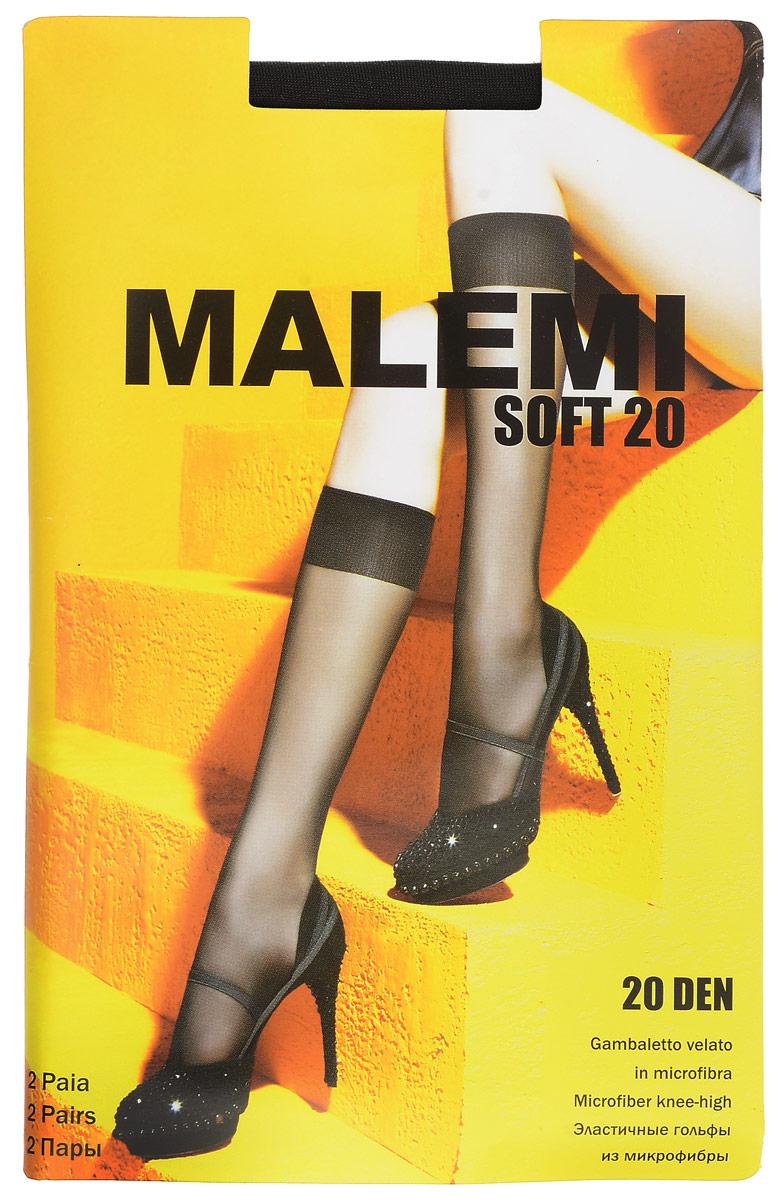Гольфы женские Soft 20, 2 парыSoft 20Стильные гольфы Malemi Soft 20, изготовленные из эластичного полиамида, идеально дополнят ваш образ в прохладную погоду. Шелковистые тонкие гольфы легко тянутся, что делает их комфортными в носке. Гладкие и мягкие на ощупь, они имеют комфортную мягкую резинку. Идеальное облегание и комфорт гарантированы при каждом движении. Плотность: 20 den. В комплекте 2 пары.