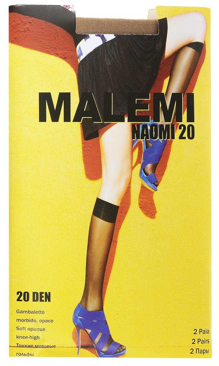 Гольфы женские Naomi 20, 2 парыNaomi 20Стильные гольфы Malemi Naomi 20, изготовленные из эластичного полиамида, идеально дополнят ваш образ в прохладную погоду. Шелковистые гольфы легко тянутся, что делает их комфортными в носке. Гладкие и мягкие на ощупь, они имеют удобную мягкую резинку и укрепленный прозрачный мысок. Идеальное облегание и комфорт гарантированы при каждом движении. Плотность: 20 den. В комплекте 2 пары.