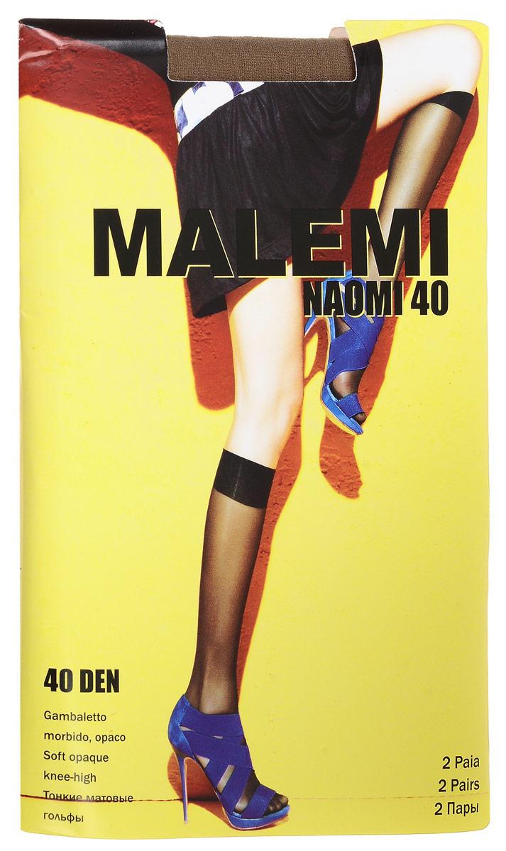 Гольфы женские Naomi 40, 2 парыNaomi 40Стильные гольфы Malemi Naomi 40, изготовленные из эластичного полиамида, идеально дополнят ваш образ в прохладную погоду. Шелковистые матовые гольфы легко тянутся, что делает их комфортными в носке. Гладкие и мягкие на ощупь, они имеют удобную мягкую резинку. Идеальное облегание и комфорт гарантированы при каждом движении. Плотность: 40 den. В комплекте 2 пары.