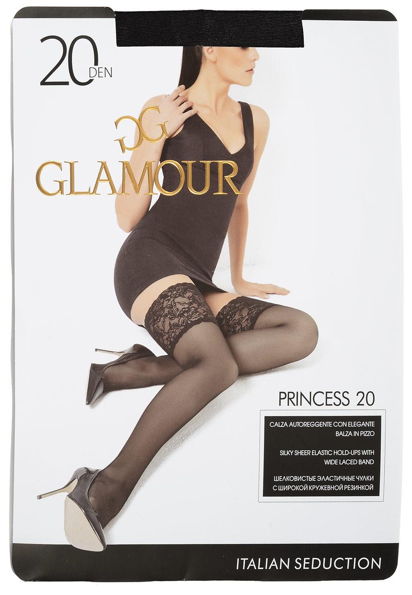 Princess 20Стильные чулки Glamour Princess 20, изготовленные из эластичного полиамида, идеально дополнят ваш образ в прохладную погоду. Шелковистые матовые чулки легко тянутся, что делает их комфортными в носке. Гладкие и мягкие на ощупь, они имеют удобную широкую ажурную резинку на силиконовой основе и укрепленный прозрачный мысок. Идеальное облегание и комфорт гарантированы при каждом движении. Плотность: 20 den.