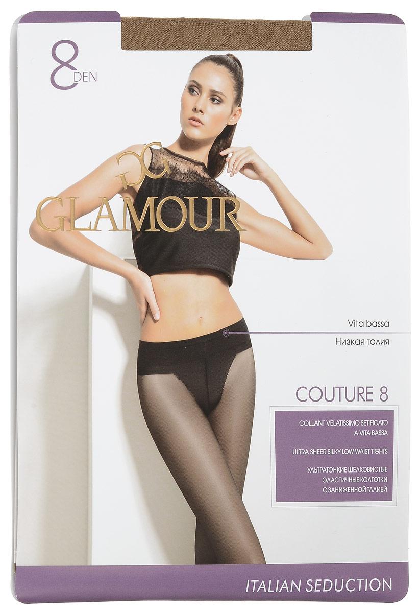 Колготки женские Couture 8. 2796227962Стильные классические колготки Glamour Couture 8, изготовленные из эластичного полиамида, идеально дополнят ваш образ и превосходно подойдут к любым платьям и юбкам. Тонкие шелковистые колготки с заниженной талией легко тянутся, что делает их комфортными в носке. Гладкие и мягкие на ощупь, они имеют комфортный широкий пояс, гигиеническую ластовицу и укрепленный прозрачный мысок. Идеальное облегание и комфорт гарантированы при каждом движении. Плотность: 8 den.
