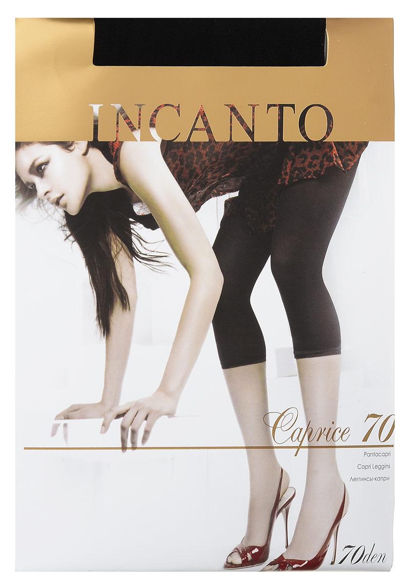 ЛеггинсыCaprice 70Удобные женские леггинсы-капри Incanto Caprice 70 изготовлены из высококачественного эластичного полиамида, они необычайно мягкие и приятные на ощупь, не сковывают движения и позволяют коже дышать, не раздражают даже самую нежную и чувствительную кожу, обеспечивая наибольший комфорт. Обтягивающие укороченные леггинсы-капри с заниженной талией дополнены широкой эластичной резинкой на талии. Такие леггинсы помогут вам создать неповторимый повседневный образ. Они послужат отличным дополнением к вашему гардеробу, в них вы будете чувствовать себя комфортно и уютно.