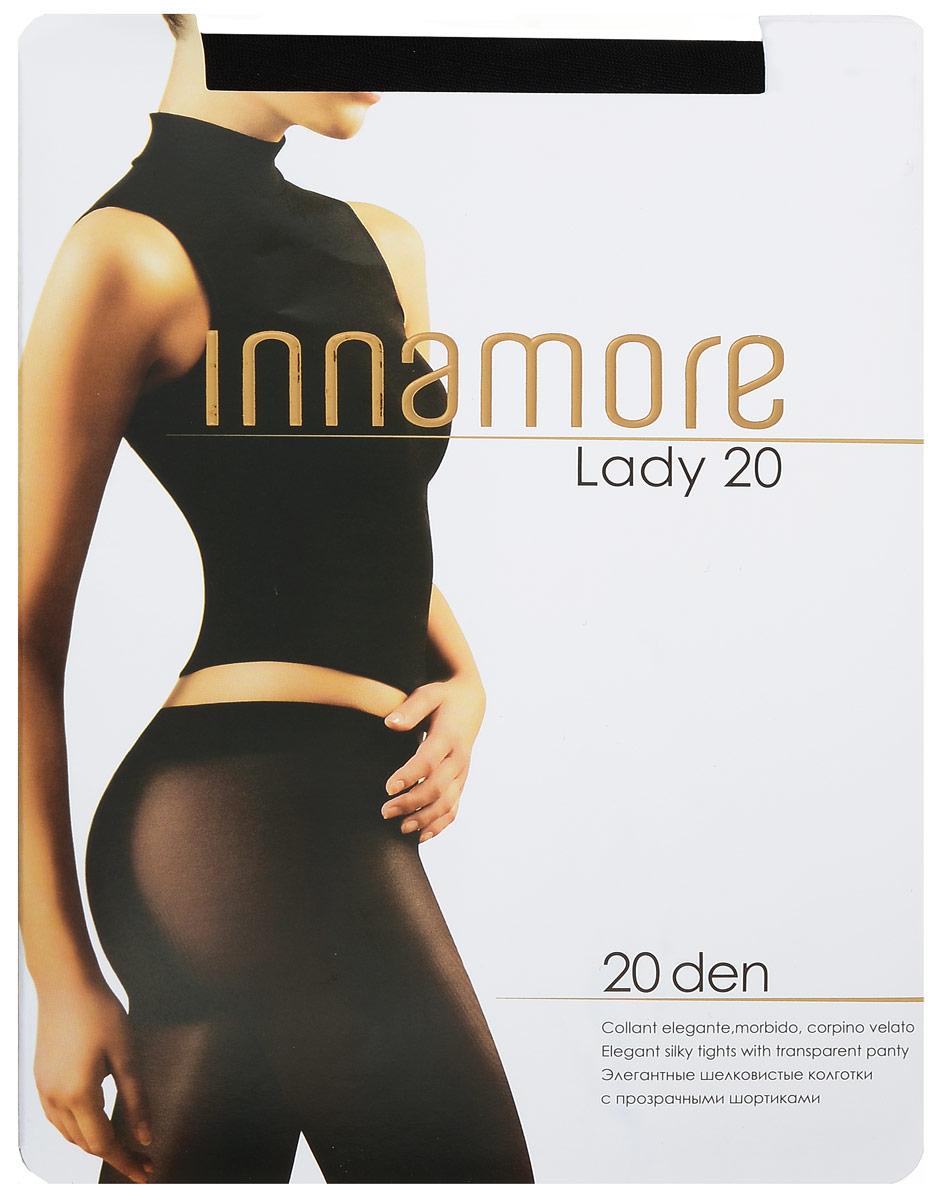 Колготки женские Lady 20. 5386853868Стильные классические колготки Innamore Lady 20, изготовленные из эластичного полиамида, идеально дополнят ваш образ и подчеркнут элегантность и стиль. Тонкие шелковистые колготки легко тянутся, что делает их комфортными в носке. Гладкие и мягкие на ощупь, они имеют анатомическую ластовицу, плоские швы, комфортный широкий пояс и укрепленный прозрачный мысок. Идеальное облегание и комфорт гарантированы при каждом движении. Плотность: 20 den.