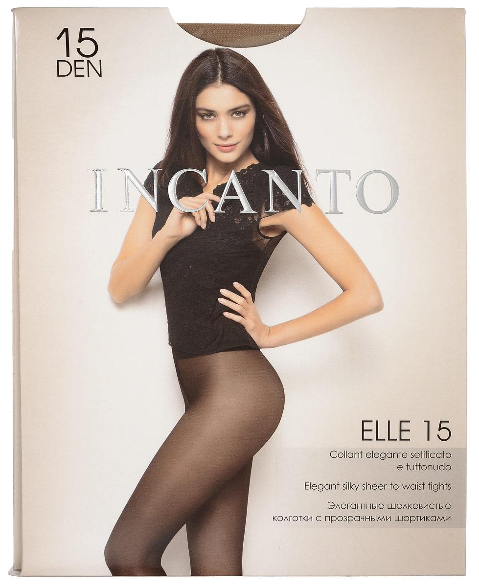 Колготки женские Elle 15. 1766117661Стильные классические колготки Incanto Elle 15, изготовленные из эластичного полиамида, идеально дополнят ваш образ и превосходно подойдут к любым платьям и юбкам. Тонкие шелковистые колготки с прозрачными шортиками легко тянутся, что делает их комфортными в носке. Гладкие и мягкие на ощупь, они имеют комфортный мягкий пояс, удобные плоские швы, анатомическую ластовицу и укрепленный прозрачный мысок. Идеальное облегание и комфорт гарантированы при каждом движении. Плотность: 15 den.