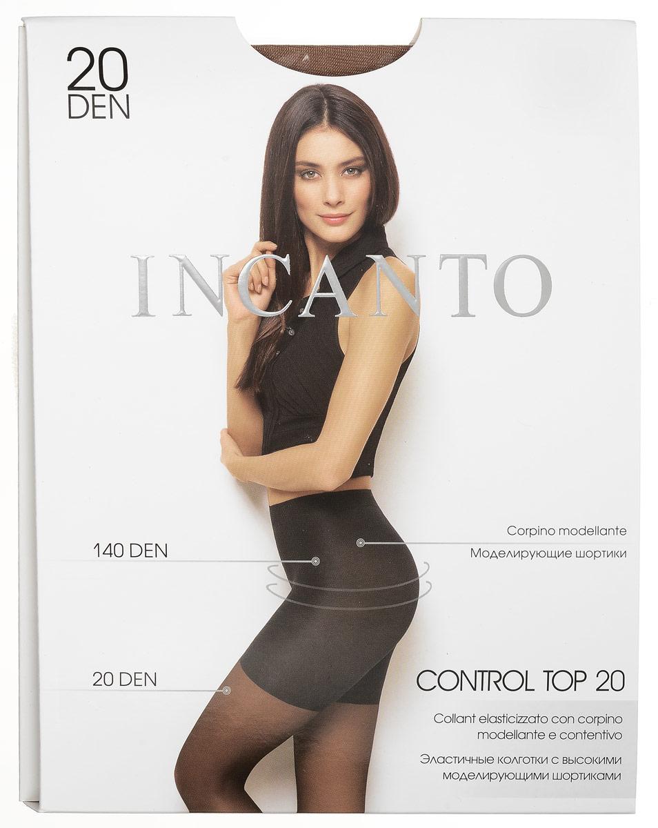 Колготки женские Control Top 20. 2461224612Стильные классические колготки Incanto Control Top 20, изготовленные из эластичного полиамида, идеально дополнят ваш образ и подчеркнут элегантность и стиль. Тонкие шелковистые колготки легко тянутся, что делает их комфортными в носке. Гладкие и мягкие на ощупь, они имеют удобные плоские швы, гигиеническую ластовицу и укрепленный прозрачный мысок. Высокие утягивающие шортики моделируют фигуру в области живота, бедер и ягодиц. Идеальное облегание и комфорт гарантированы при каждом движении. Плотность утягивающих шортиков: 140 den. Плотность колготок: 20 den.
