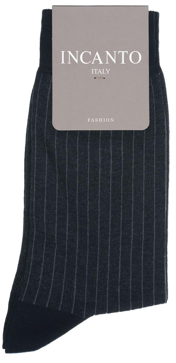 Носки мужские Fashion. BU733038BU733038Мужские носки Incanto Fashion изготовлены из хлопка с добавлением полиамида. Материал тактильно приятный, хорошо пропускает воздух. Носки дополнены эластичной резинкой, не сдавливающей ногу. Усиленные пятка и мысок обеспечивают надежность и долговечность. Оформлено изделие принтом в полоску. Удобные и комфортные носки станут отличным дополнением к вашему гардеробу!