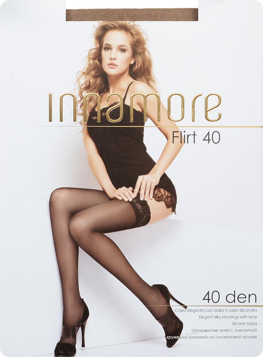 Чулки490Стильные классические чулки Innamore Flirt 40, изготовленные из эластичного полиамида, идеально дополнят ваш образ в прохладную погоду. Шелковистые чулки легко тянутся, что делает их комфортными в носке. Гладкие и мягкие на ощупь, они имеют элегантную кружевную резинку на силиконовой основе и укрепленный мысок. Идеальное облегание и комфорт гарантированы при каждом движении. Плотность: 20 den.
