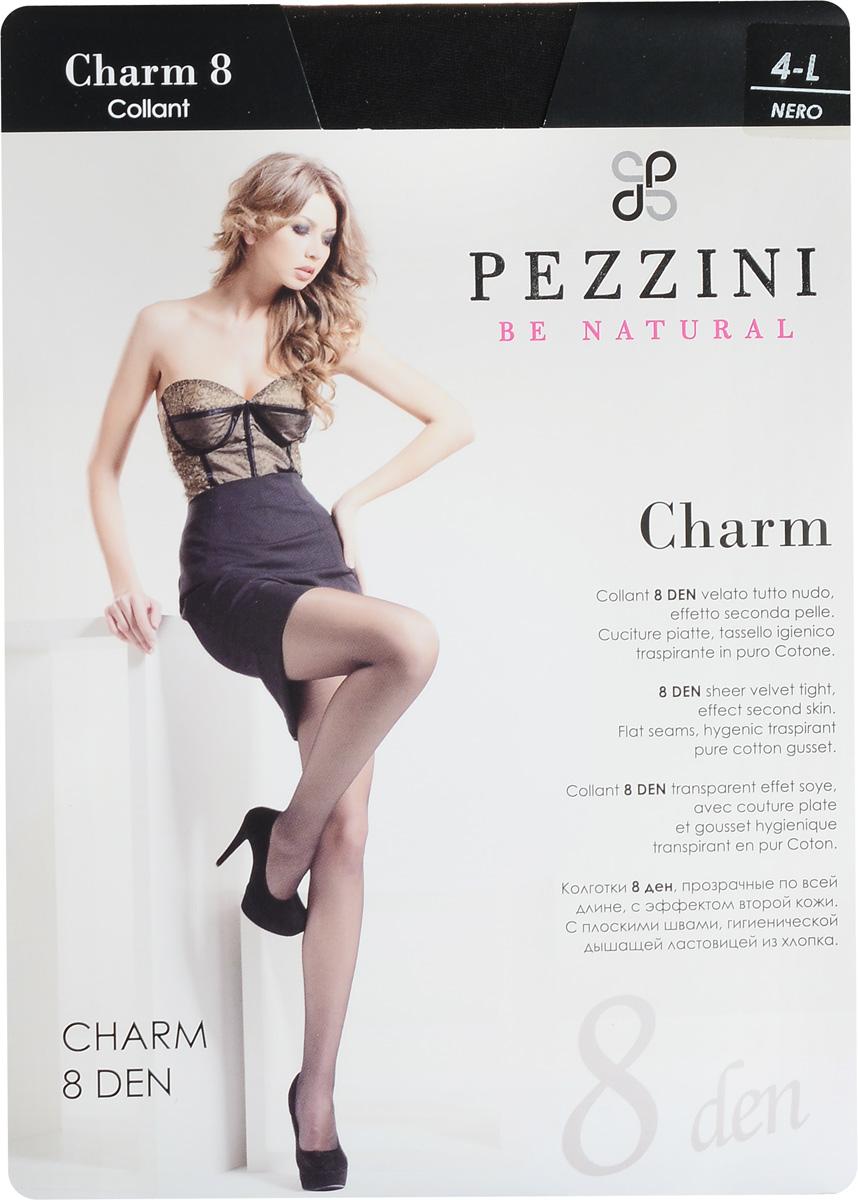 Колготки женские Charm 8. Ch8Ch8-abСтильные классические колготки Pezzini Charm 8, изготовленные из эластичного полиамида, идеально дополнят ваш образ и превосходно подойдут к любым платьям и юбкам. Тонкие шелковистые колготки с формованными ножками легко тянутся, что делает их комфортными в носке. Гладкие и мягкие на ощупь, они имеют удобные плоские швы, гигиеническую ластовицу, комфортный мягкий пояс и укрепленный прозрачный мысок. Идеальное облегание и комфорт гарантированы при каждом движении. Плотность: 8 den.