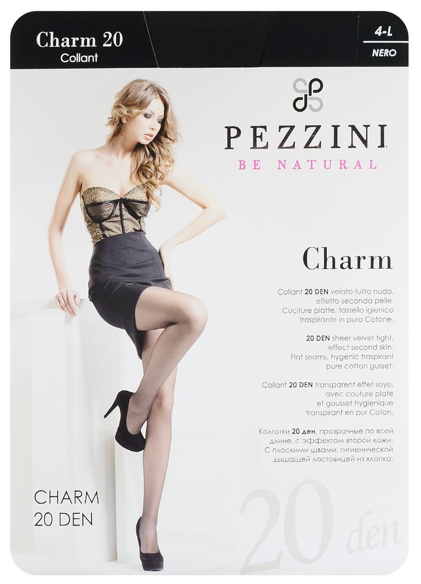 Колготки женские Charm 20. Ch20Ch20-ne-4Стильные классические колготки Pezzini Charm 20, изготовленные из эластичного полиамида, идеально дополнят ваш образ и превосходно подойдут к любым платьям и юбкам. Тонкие шелковистые колготки с формованными ножками легко тянутся, что делает их комфортными в носке. Гладкие и мягкие на ощупь, они имеют удобные плоские швы, гигиеническую ластовицу, комфортный мягкий пояс и укрепленный прозрачный мысок. Идеальное облегание и комфорт гарантированы при каждом движении. Плотность: 20 den.