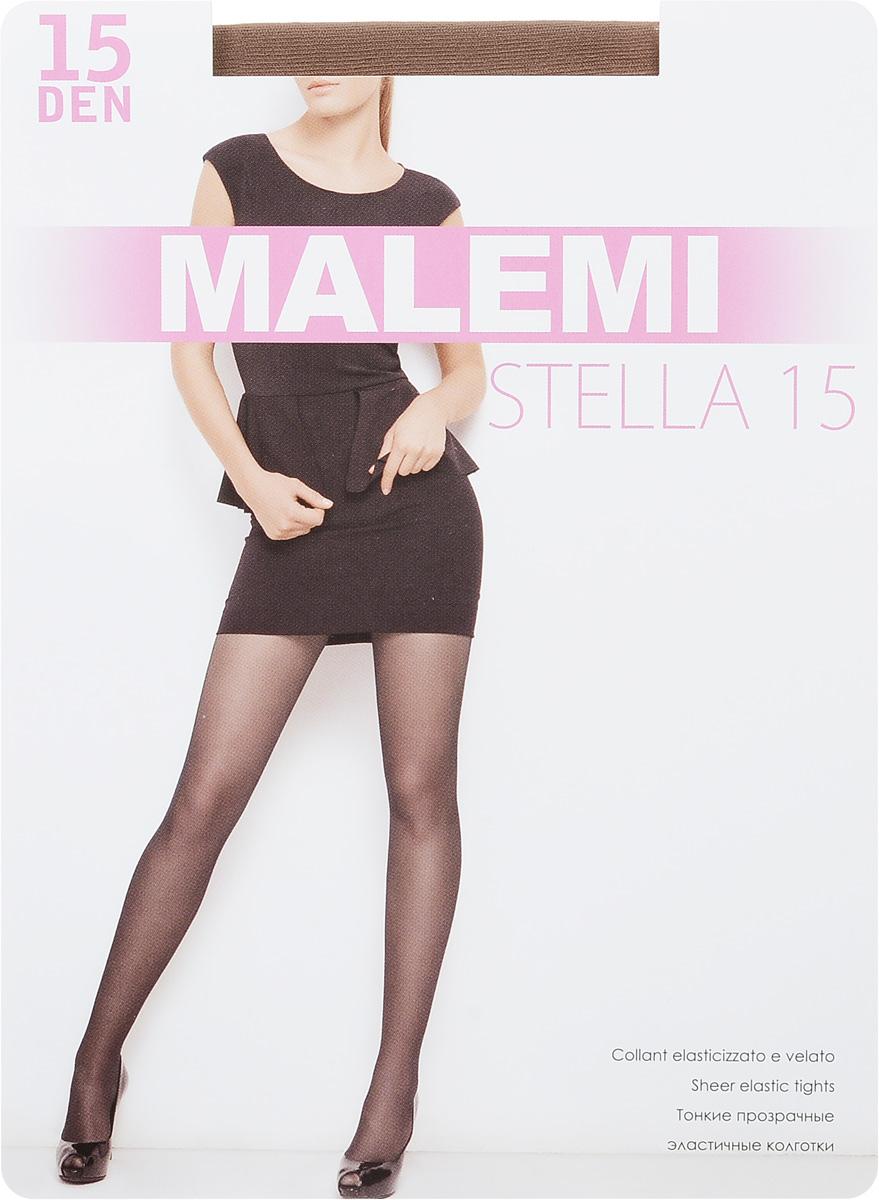 Колготки женские Stella 15. 1545315453Стильные классические колготки Malemini Stella 15, изготовленные из эластичного полиамида, идеально дополнят ваш образ и превосходно подойдут к любым платьям и юбкам. Тонкие шелковистые колготки с укрепленным верхом легко тянутся, что делает их комфортными в носке. Гладкие и мягкие на ощупь, они имеют комфортный мягкий пояс и укрепленный прозрачный мысок. Идеальное облегание и комфорт гарантированы при каждом движении. Плотность: 15 den.