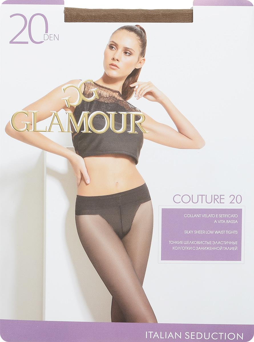 Колготки женские Couture 20. 2796327963Стильные классические колготки Glamour Couture 20, изготовленные из эластичного полиамида, идеально дополнят ваш образ и превосходно подойдут к любым платьям и юбкам. Тонкие шелковистые колготки с заниженной талией легко тянутся, что делает их комфортными в носке. Гладкие и мягкие на ощупь, они имеют комфортный широкий пояс, гигиеническую ластовицу и укрепленный прозрачный мысок. Идеальное облегание и комфорт гарантированы при каждом движении. Плотность: 20 den.