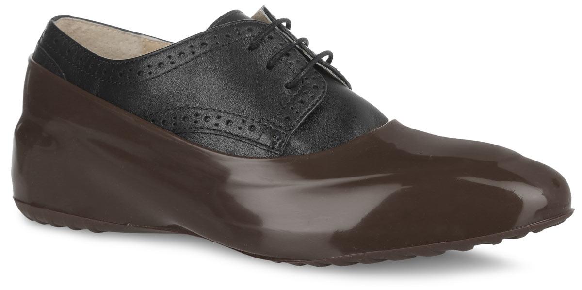 WBL 21Стильные женские галоши предназначены для защиты обуви без каблука. Модель выполнена из силикона с добавлением резины. Галоши легко надеваются на обувь и принимают ее форму. Они защищают обувь от влаги, грязи, снега, соли и песка. Также галоши оберегают заднюю часть обуви от повреждения при нажатии на педали автомобиля. Галоши легко моются и быстро сохнут. Рифление на подошве обеспечивает отличное сцепление с любой поверхностью. Модные галоши не только защитят вашу обувь, они помогут изменить ее внешний вид, сделав его более эффектным.